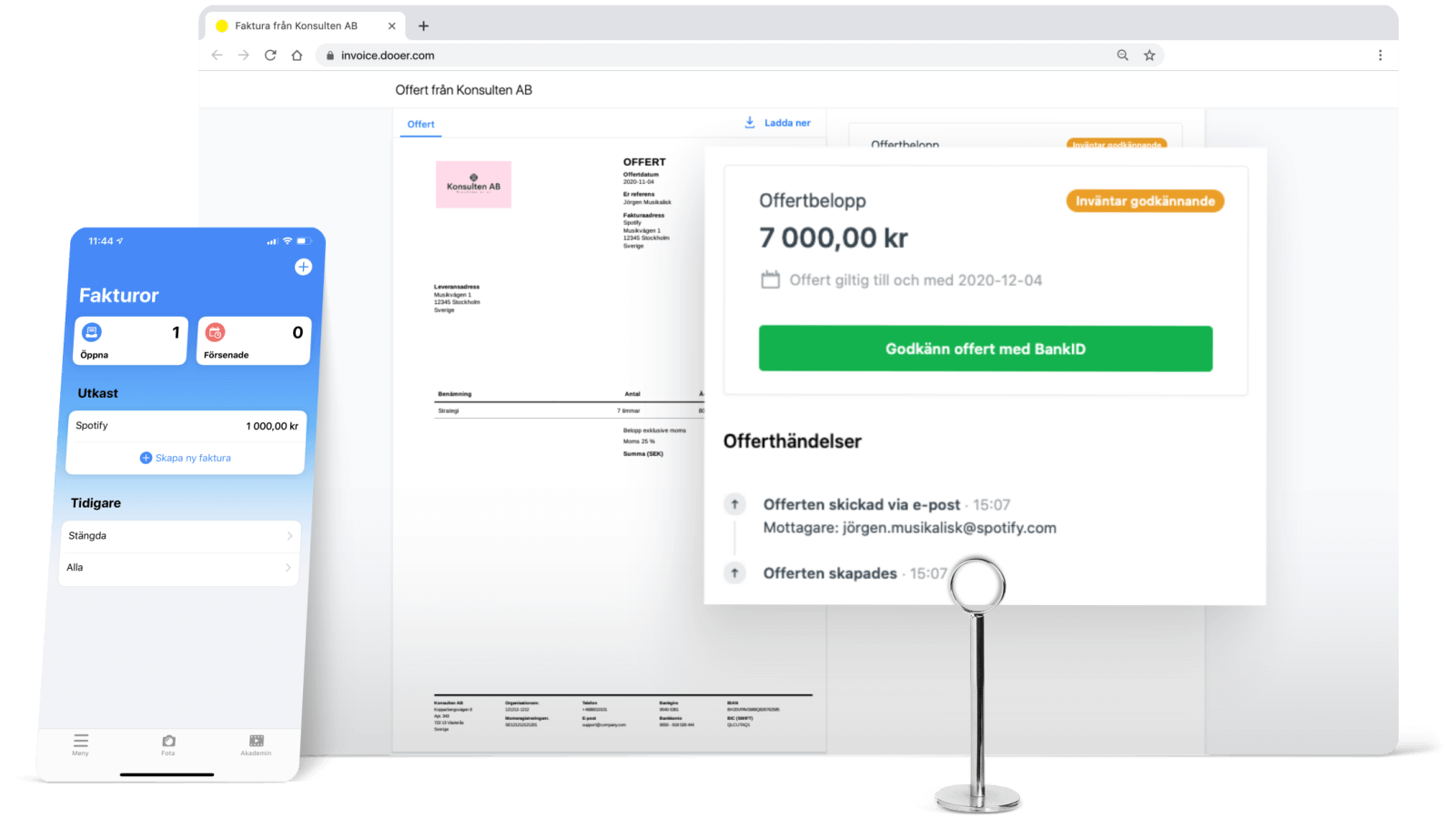 Dooer billing dashboard